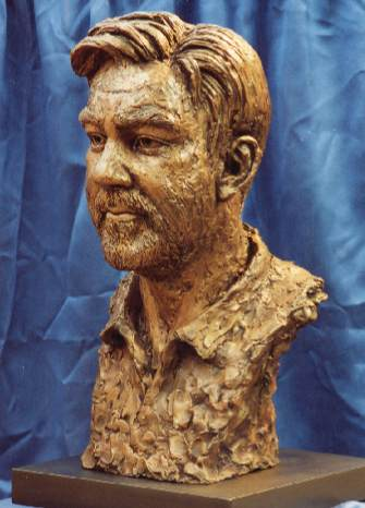 John McKenna sculpture A4A Art for Architecture www.a4a.com Earl of bradford bronze portrait bust portaiture clay sculptors Royal