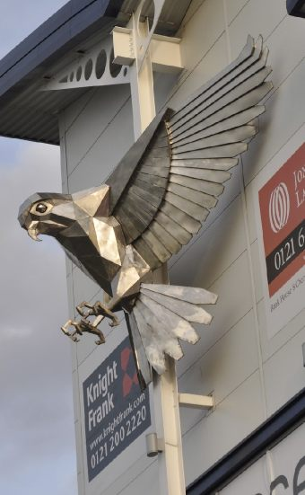 stainless steel bird sculpture Kestrel © copyright 2012  John McKenna sculpture Ltd, Ayrshire Scotland www.a4a.com